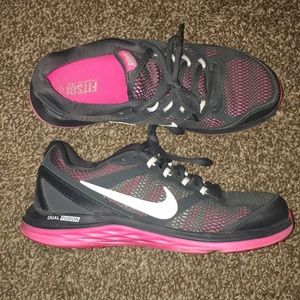 Women's pink and grey Nike's